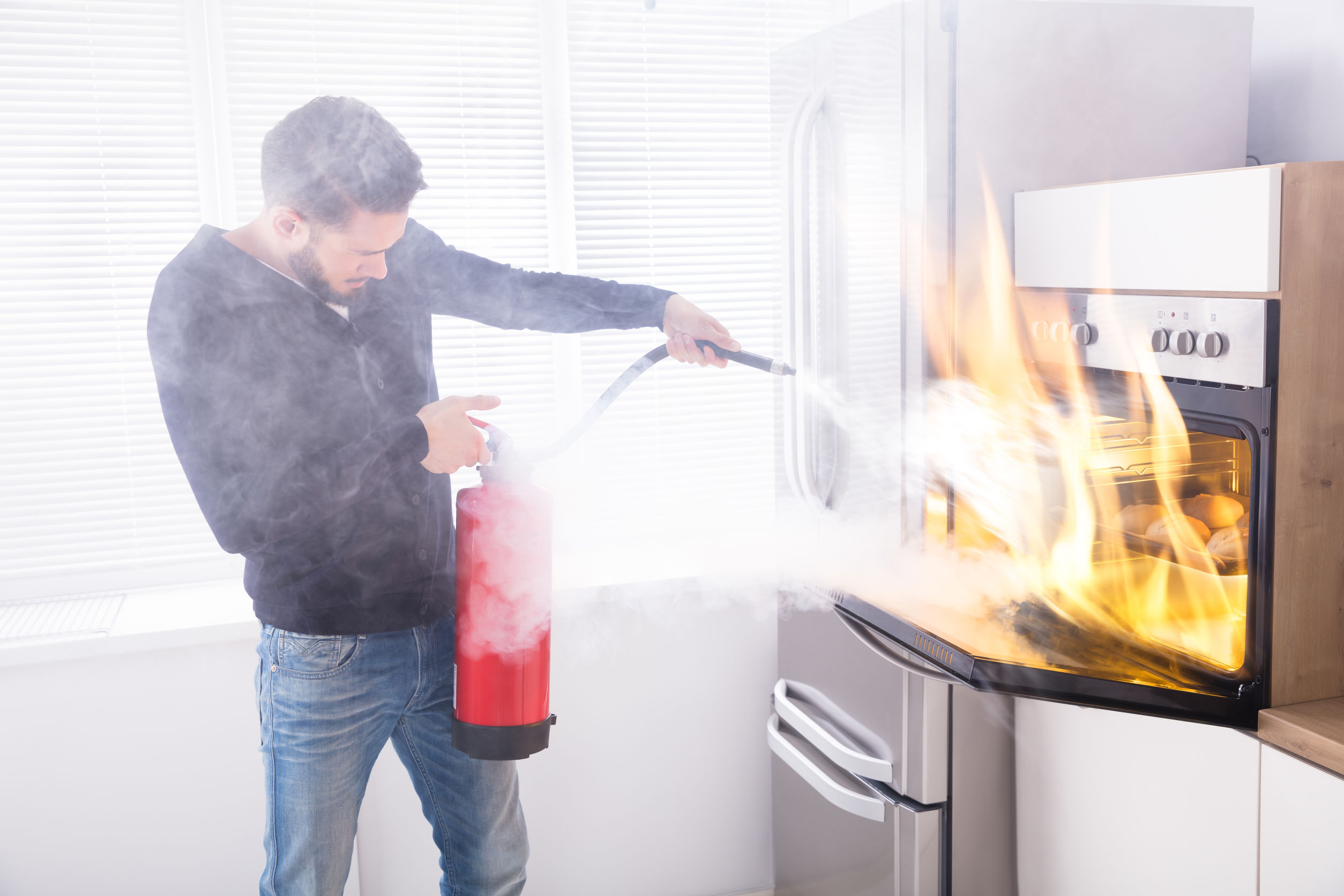 Extinguishing Kitchen Fire